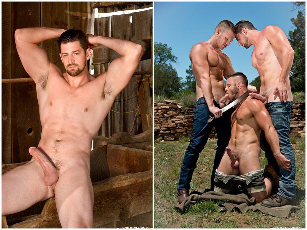 gay outdoors hunk