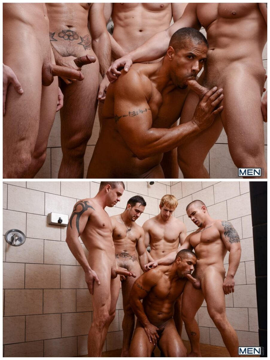 Uniform hunks hardcore orgy fun